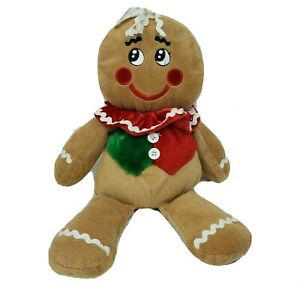 "16"" DAN DEE GINGERBREAD BOY CHRISTMAS COOKIE BROWN STUFFED ANIMAL PLUSH TOY"