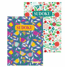 2 x A5 Sudoku Puzzle Book Books Floral Cover 220 Puzzles Pages Super Trivia