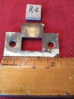 "Vtg. Brass Coated 2 1/4""x1 1/16""Mortise Lock Striker Plate  Keeper Jamb R2"