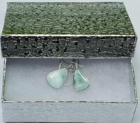 Larimar Earrings Dominican Ocean Blue Artisan Style gemstone dolphin stone