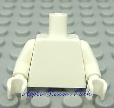 NEW Lego Girl/Boy Minifig Plain WHITE TORSO & Hands -Blank Minifigure Body upper