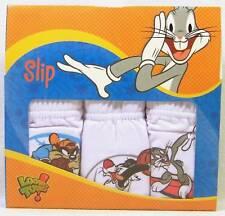 3 x Slip Bimbo Tris LOONEY TUNES Bugs Bunny tg. 2 - 3 anni