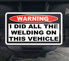 I Did All The Welding Funny Warning Hitch Cover 4x4 ATV