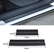 4x 3D Carbon Fiber Look Anti Scratch Car Door Plate Sill Scuff Cover Sticker Kit