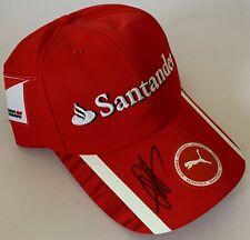 Sebastian Vettel main signé F1 Cap Ferrari-Formule 1 Champion du monde la preuve 1.