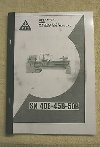 TOS SN40B/45B/50B Lathe Manual (World Post)