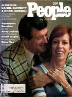 Carol Burnett & Rock Hudson People Magazine July 15, 1974 with label