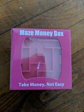 3D Cube Puzzle Money Maze Bank Saving Coin Collection Case