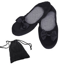 fe1afbdc5 2PC Women's Foldable Portable Travel Ballet Flat Shoes Matching Carrying  Case AU