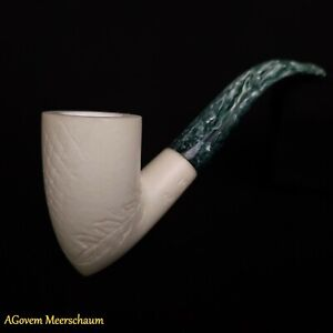 Pickaxe Meerschaum Pipe, Tobacco Smoking Pipe, Tobacco Pfeife Pipa + CASE AGM151