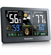Newentor Weather Station Wireless Indoor Outdoor Thermometer, Color Display
