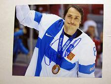 TEEMU SELANNE Team Finland Olympics SIGNED Autographed 8X10 Photo w/ COA