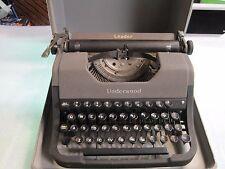 Vintage 1950 Underwood Leader Manual Portable Typewriter w/ Case