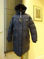 Designer Diesel Blue Grey Padded Down Jacket Coat Women's Size L, M New With Tag