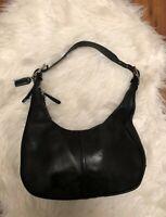 Coach Black Zoe Leather Small Hobo Shoulder Bag Purse handbag Good condition