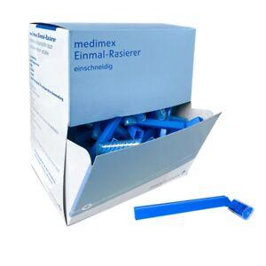 100 Stück Rasierer Einmalrasierer Einwegrasierer Körperhaar einschneidig blau