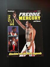 FREDDY MERCURY ABSCHIED VON DER ROCKLEGENDE Fotobroschüre von 1991/92 selten!