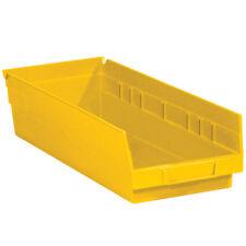 "Box Partners Plastic Shelf Bin Boxes 17 7/8"" x 6 5/8"" x 4"" Yellow 20/Case"