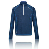 Regatta Mens Yonder Half Zip Fleece Top - Navy Blue Sports Outdoors Breathable