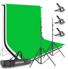 8.5ftX10ft/2.6M X 3M Background Stand Support System with Backdrop for Portrait
