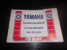 Kundendienst Scheckheft Yamaha 2 Takt Modelle bis 50ccm Motorrad Bike Inspektion