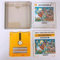 Super Mario Bros Famicom Disk System FC NES DK Japan Game w/ manual box