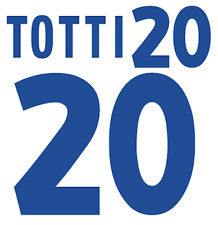 Italy Totti Nameset 2000 Shirt Soccer Number Letter Heat Print Football Italia A