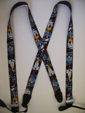 """X 1 1/2"""" & 2"""" JAZZ PLAYER  JZBK  Mens Suspenders BUTTON ON USA Made"""