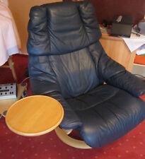 "2 x Stressless Ekornes Sessel ""Reno"" Größe M in Oxford blau"