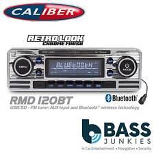CALIBER Vintage Classic Bluetooth Mechless USB SD Car Stereo Radio Player CHROME