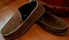 LL Bean Wicked Good Slip On Slippers Mens 13 Shearling Lined Sheepskin Brown