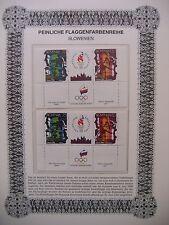Irrtümer auf Briefmarken / Slowenien Mi 151 + Zierfeld + Mi 152 : Olympic Games