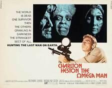 THE OMEGA MAN Movie POSTER 22x28 Half Sheet Charlton Heston Anthony Zerbe