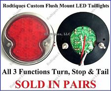Flat Mount Red LED Taillights Roll Pan Bumper Custom Ford Pickup Truck F32