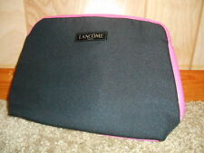 Lancome Black With Hot Pink Trim Makeup Cosmetic Bag Travel Case NEW!