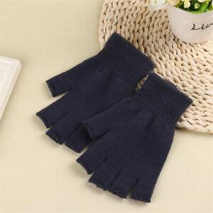 Womens Gloves Knitted Half Finger Couple Fingerless Gloves Warm Winter Gloves /