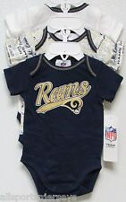 NFL NWT INFANT ONESIE-SET OF 3- ST. LOUIS RAMS 18 MONTHS