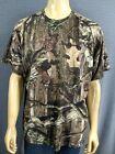 MOSSY OAK Break Up Camo Shirt Mens XXL SS Hunting Camping Fishing Poly Vented