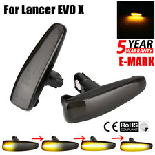 2PCS/SET Smoked Lens Dynamic Led Side markers Turn Signal Light For Lancer Evo X