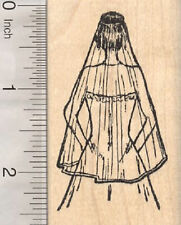 Bride Rubber Stamp, Wedding Gown and Veil H28311 WM