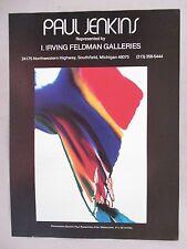Paul Jenkins Art Gallery Exhibit PRINT AD - 1978