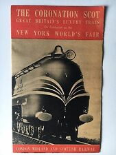1939 Brochure The Coronation Scot Great Britain's Luxury Train NY World's Fair