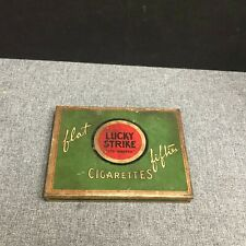 Vintage Lucky Strike Cigarettes Flat Fifties Tin Case