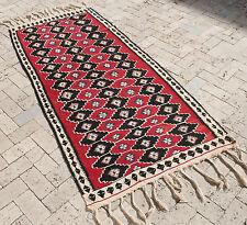 Turkish Kilim Rug 36''x79'&# 039; Hand Woven Van Kilim 94x202cm
