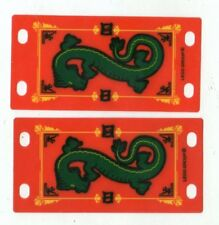 LEGO 7419 Plastic Sheet with Two Flag 4 x 8 with Green Oriental Dragon Pattern'