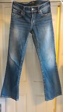 Silver Women's Jeans 28x32 Embellished,Distressed,Flare/Boot Cut 29x30.5 Actual