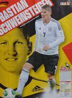 BASTIAN SCHWEINSTEIGER - A2 Poster (XL - 42 x 55 cm) Fußball Clippings Sammlung