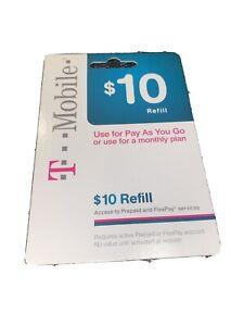T-Mobile $10 Refill -- fast & right direct refill
