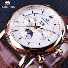 Forsining Moon Phase Calendar Design Men Watch Top Brand Luxury Automatic Watch