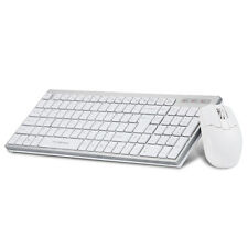 White Wireless 2.4GHz Gaming Keyboard + Mouse Combo Set For PC Smart TV Android